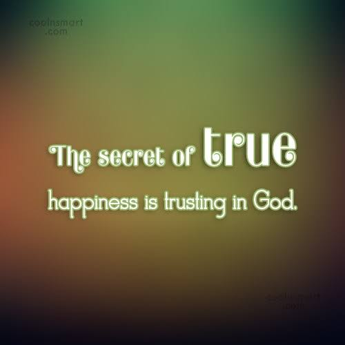 The Secret Of True Happiness